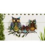 "22.5"" Long- 3 Owls Perched Atop a Branch Design Iron Indoor Outdoor Wall... - $69.76"