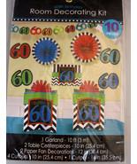 60th Birthday Room Decorating Kit 10 Pieces - $24.95