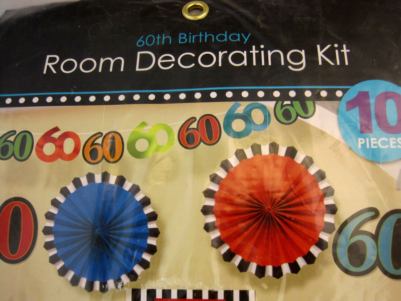 60th Birthday Room Decorating Kit 10 Pieces