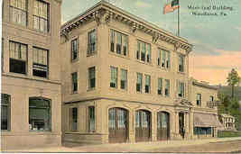 Woodlawn Pennsylvania Municipal Building 1907 Post Card - $5.00