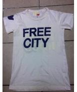 FREE CITY block Neighborhood classic white dove PURPLE cream T-SHIRT NEW... - $139.99
