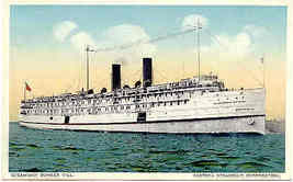 Steamship The Bunker Hill Vintage Post Card - $6.00