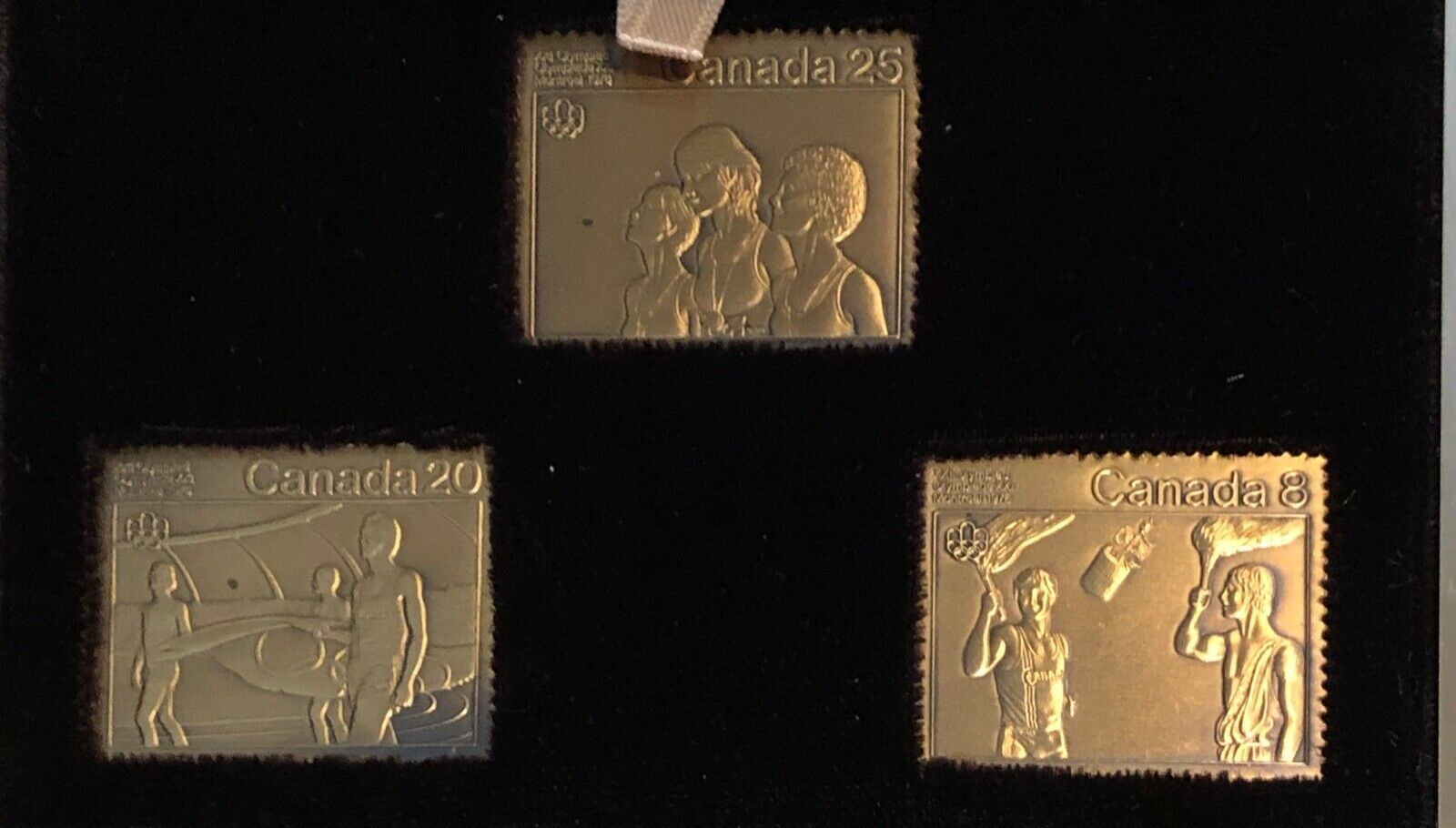 Primary image for Canada Olympic 3 Medal Set. Bronze, 1976 stamps (box 8)