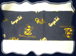 Georgia Tech Navy Duck Fabric VTG College Fabric Remnants - $18,55 MXN