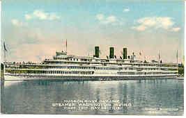 Hudson River Lines Steamer Washington Irving 1913 Post Card - $7.00