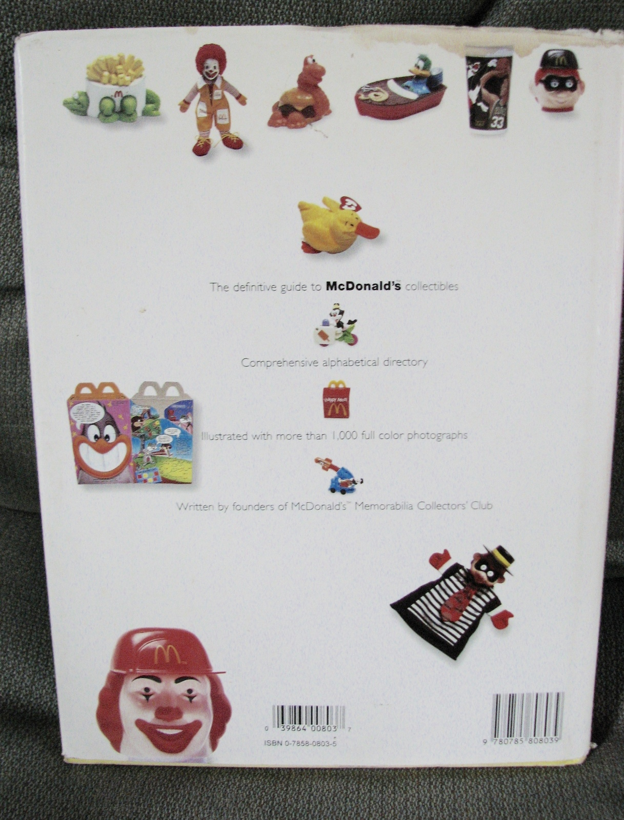 Vintage Book McDonalds Collectibles Guide 1970 to 1997 Happy Meals