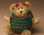 "Boyds Bears ""Huggles"" 8"" Plush Holiday Bear - #904366 - NWT-2004-  Retired"
