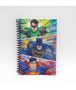 DC COMICS Justice League Spiral NOTEBOOK Lenticular Motion Superman Batman - $4.25