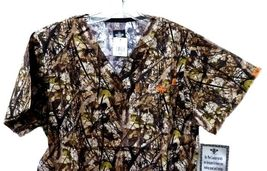 Med Couture XS Peaches Uniforms Unisex Natural Disguise Camo Scrub Set New image 8