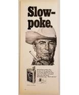 1968 Print Ad Bull Durham Extra Size Cigarettes Rugged Cowboy Smoking Dr... - $11.89
