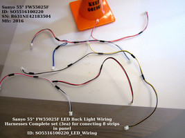 """Sanyo 55"""" FW55025F LED Back Light Wiring Harnesses Complete set (3ea) fo... - $10.35"""