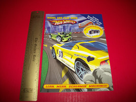 Hot Wheels Race Cars Book Model & Play Punch Out Racers Paper Craft Activity Toy - $4.74