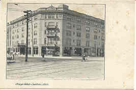 The Otsego Hotel Jackson Michigan Vintage Post Card  - $5.00