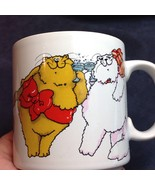 Fat Kitty Cats Presents Christmas Mug CHEERS Russ Berrie Ornaments Toast... - $29.21
