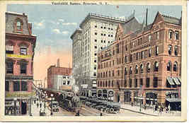 Vanderbilt Square Syracuse New York Vintage Post Card - $5.00