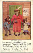 The Busy Bears on Vacation 1907 Vintage Post Card - $15.00