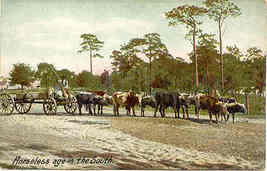 A Horseless Wagon In The South vintage Post Card - $6.00