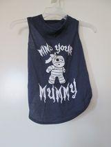 casual canine dog halloween costume mind your mummy size large blue shirt tank image 3