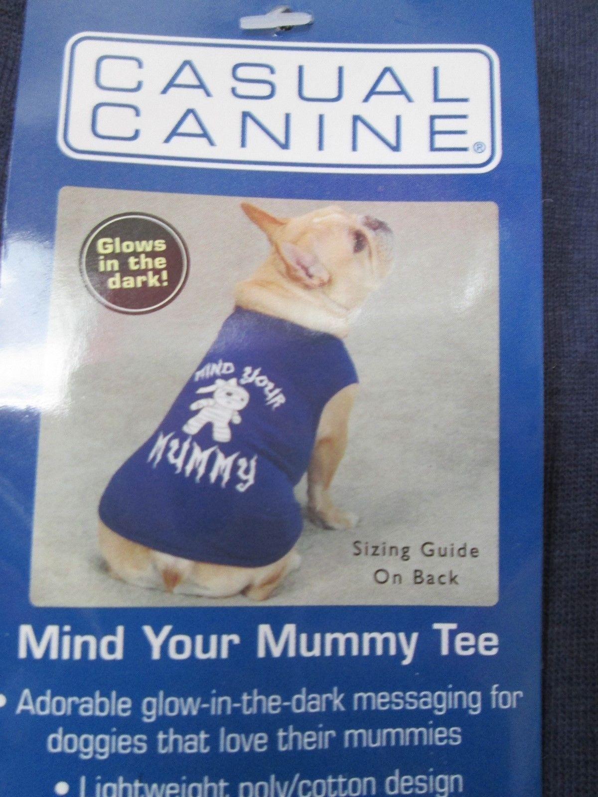 casual canine dog halloween costume mind your mummy size large blue shirt tank image 5
