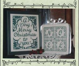 Christmas Greetings One-Color Wonders monochrome cross stitch Waxing Moon  - $8.00