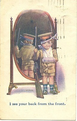 Back From The Front artist Adrienne Nash 1919 Post Card