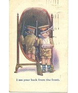 Back From The Front artist Adrienne Nash 1919 Post Card - $6.00