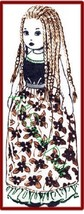 """Vintage Pattern for 18"""" Island Girl Cloth Doll with Long Braided Hair - $5.99"""