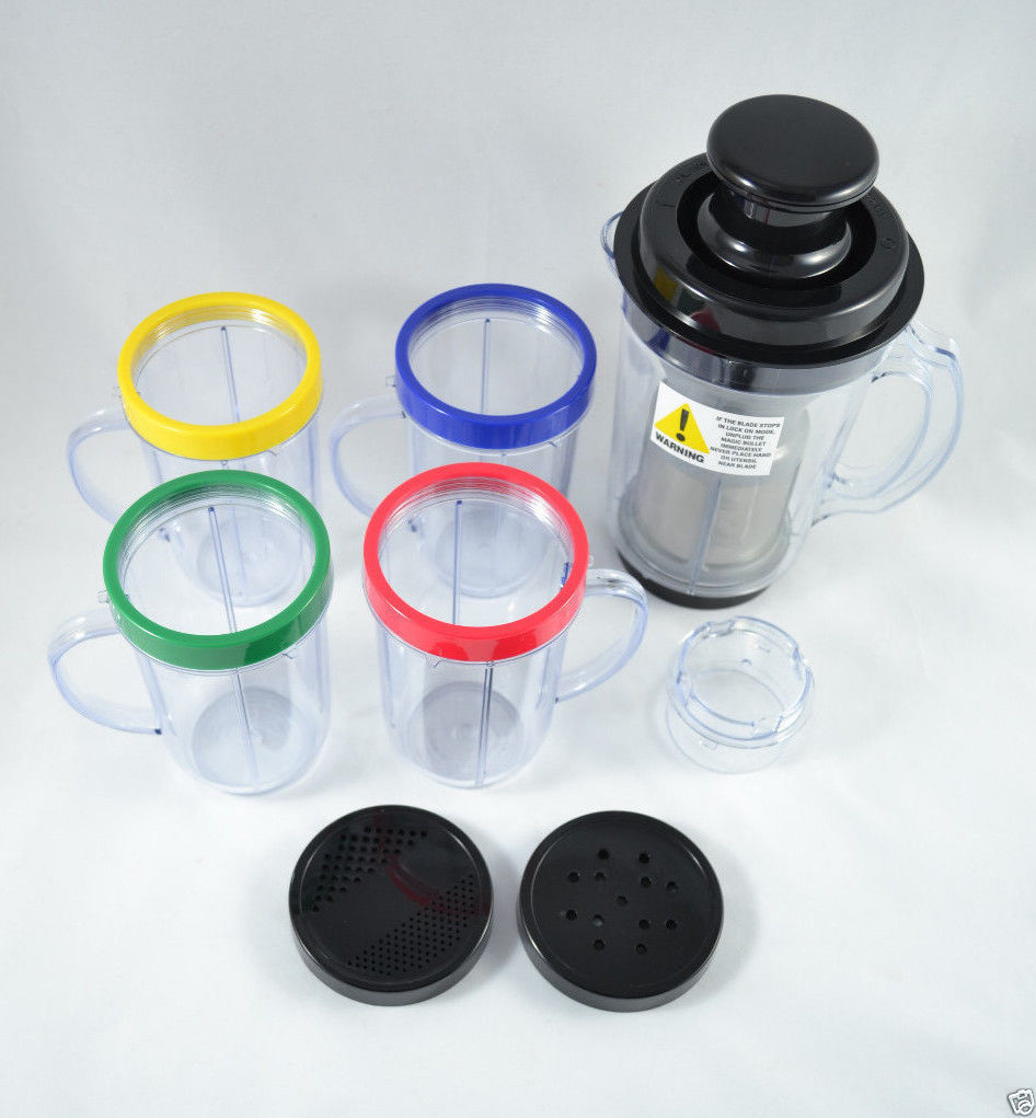 Genuine Magic Bullet Cups Mugs Lids Juicer Blender