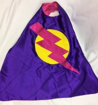 Superkid Capes Girls Pink Purple Lightning Bolt Super Hero Cape Halloween - $19.80