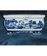 Blue Willow Planter Bombay Made in China - $34.97