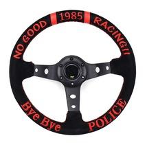 13 Inch Suede Sport Steering Wheel Universal Deep Drifting Tuning Steeri... - $99.00