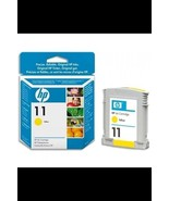 Genuine HP 11 Yellow Cartridge C4838A Sealed Box ; Business 1200 2200xi ... - £5.29 GBP