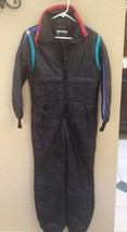 Vtg 80s/90s WHITE STAG Women's Sz 10 Black/Purple Snow Ski Suit-Thinsula... - $49.49