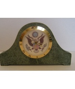 Granite Arch Design US Great Seal Mantle Clock and US Great Seal Plate - $29.00