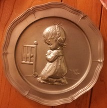 Goebel 1975 A Childs Prayer Metal Plate-9-y072 - $17.00