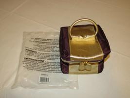 Avon Marke Damen F3250741 Toilettenartikel Make-Up Reisetasche Aubergine Gold - $21.36