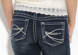 SILVER JEANS SaleBuckle Cheap Mid Aiko Denim Jean Stretch Shorts Cropped... - $19.97