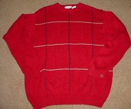 BILL BLASS dk red crew neck Cotton  Sweater size XL   NICE! - $7.99