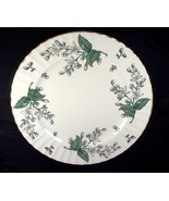 """Royal Worcester Valencia bone china 12"""" chop plate white gray flowers go... - $33.38"""
