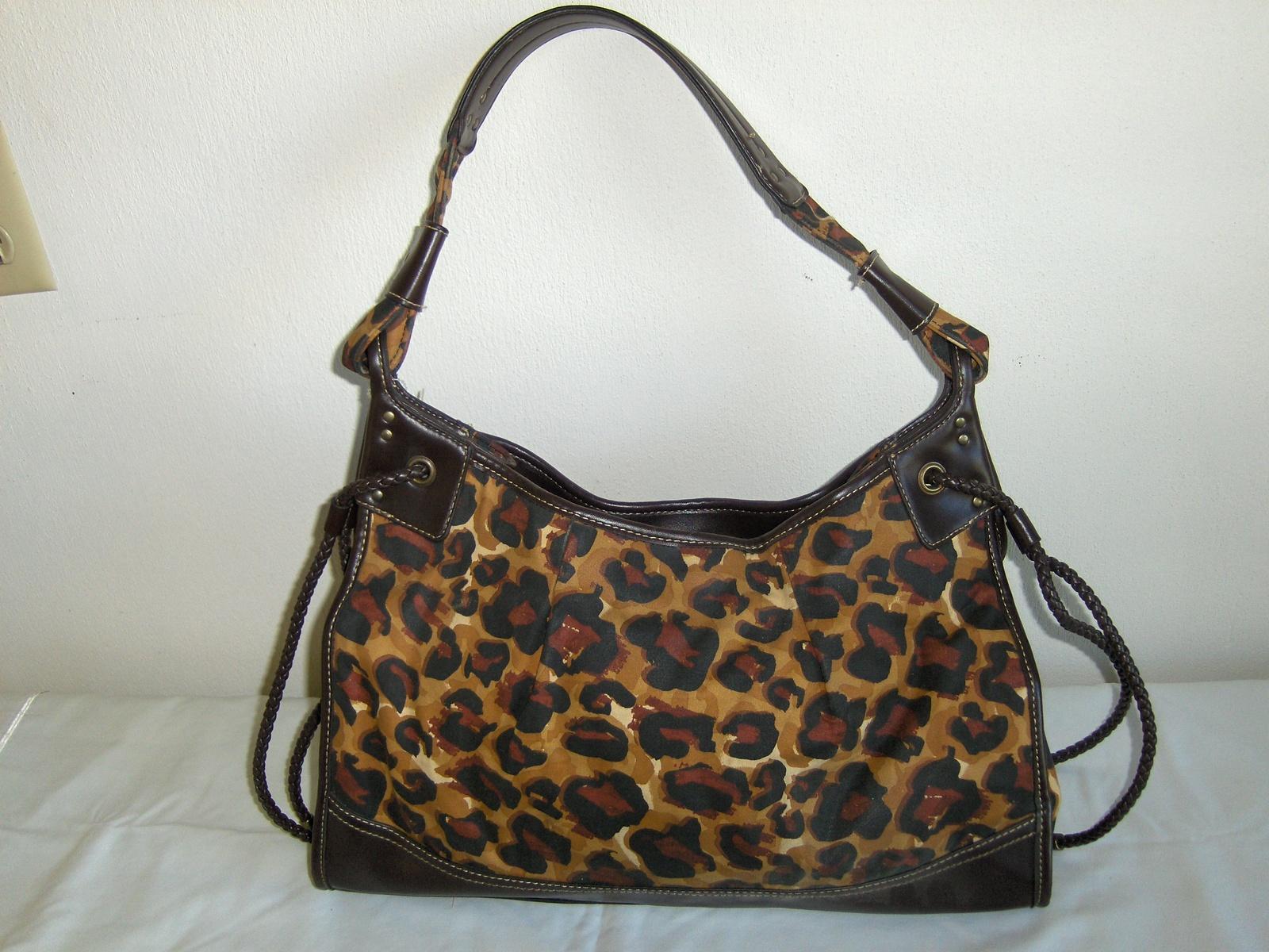 5b3b2677f1 Franco Sarto Hobo Bag Animal Print Purse Tote Shoulder Hand Bag Black and  Brown - $19.97