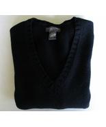 Banana Republic Sweater Deep Black Sz Medium Long Sleev - $20.52