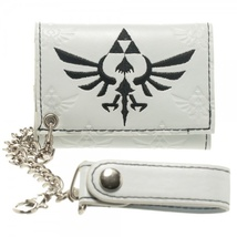 Zelda White Logo w/ Chain Wallet *NEW* - $19.99
