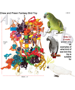 Chew & Preen Fantasy Bird Toy - for the SERIOUS... - $34.50