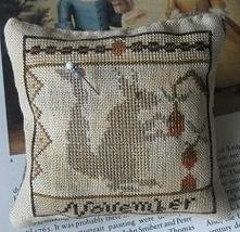 November Squirrel Calendar Of Animals cross stitch chart Niky's Creations - $12.60