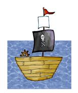 Pirate Ship04-Digital Download-ClipArt-ArtClip-Digital Art - $4.00