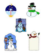 Mix Snowman30-Digital Download-ClipArt-ArtClip-Digital Art - $4.00
