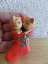 Enesco imports Kissing Cats in Stocking Ornament  - $12.00
