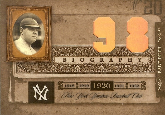 Primary image for 2005 donruss playoff biography baseball card yankees babe ruth home run 98