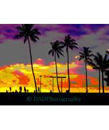 Digital Art - Hawaiian Silhouettes, Three Sizes Available - $9.50