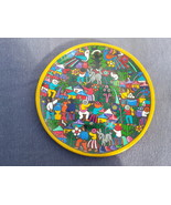 Hand Painted Folk Art Plate from Mexico - Done on Terra Cotta  - $55.00